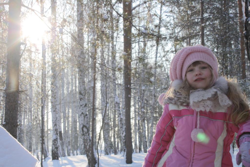 зимнее солнце. Веселая зима