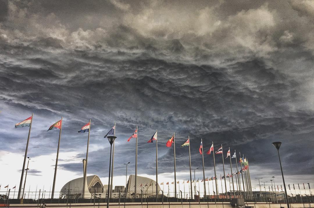 Сгущение красок над Олимпийским парком. Блиц: тучи