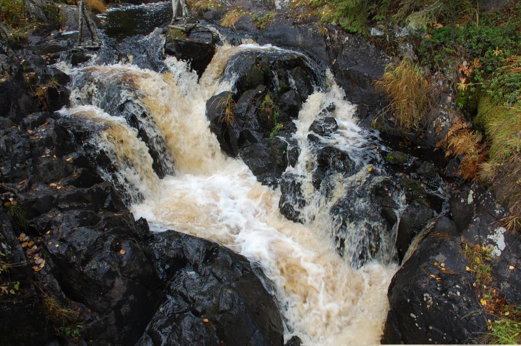 Водопад Ахинкоски. Пена