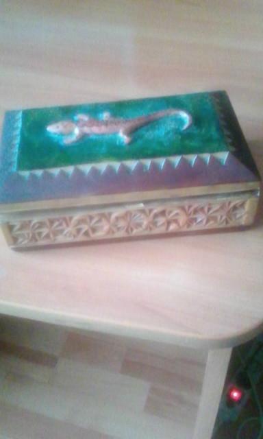 Деревянная шкатулка 'саламандра'. Блиц: из дерева