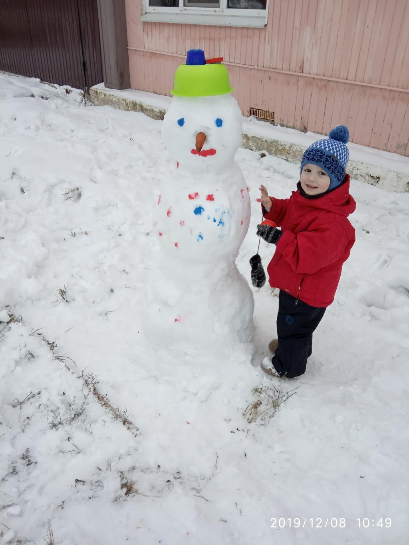 Снеговик. Новогодние каникулы