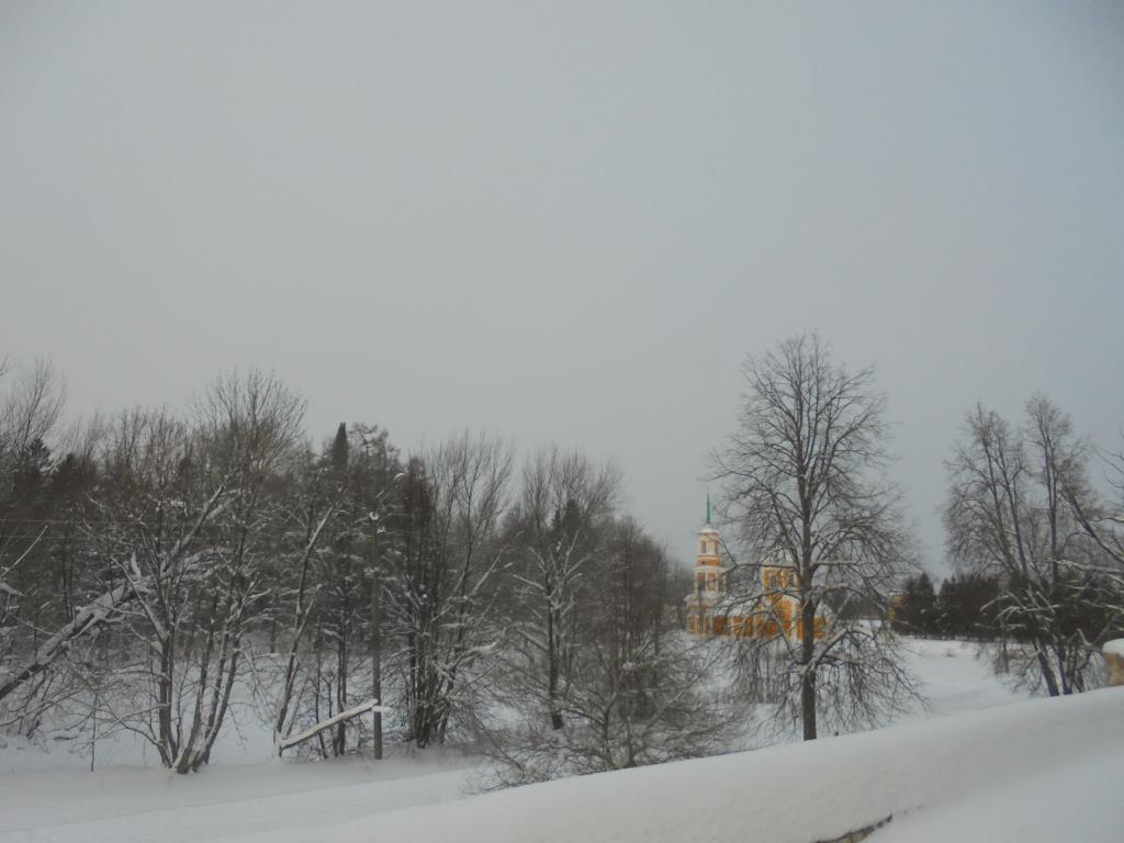 зимний пейзаж .