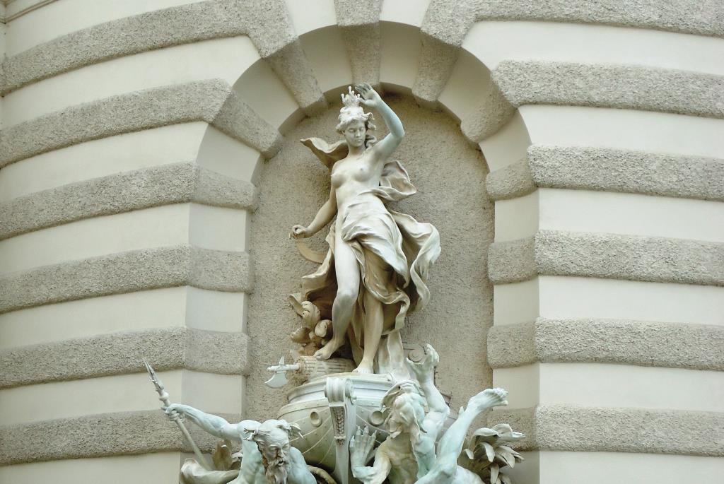 Часть полосатого фонтана в Вене. Блиц: полосы