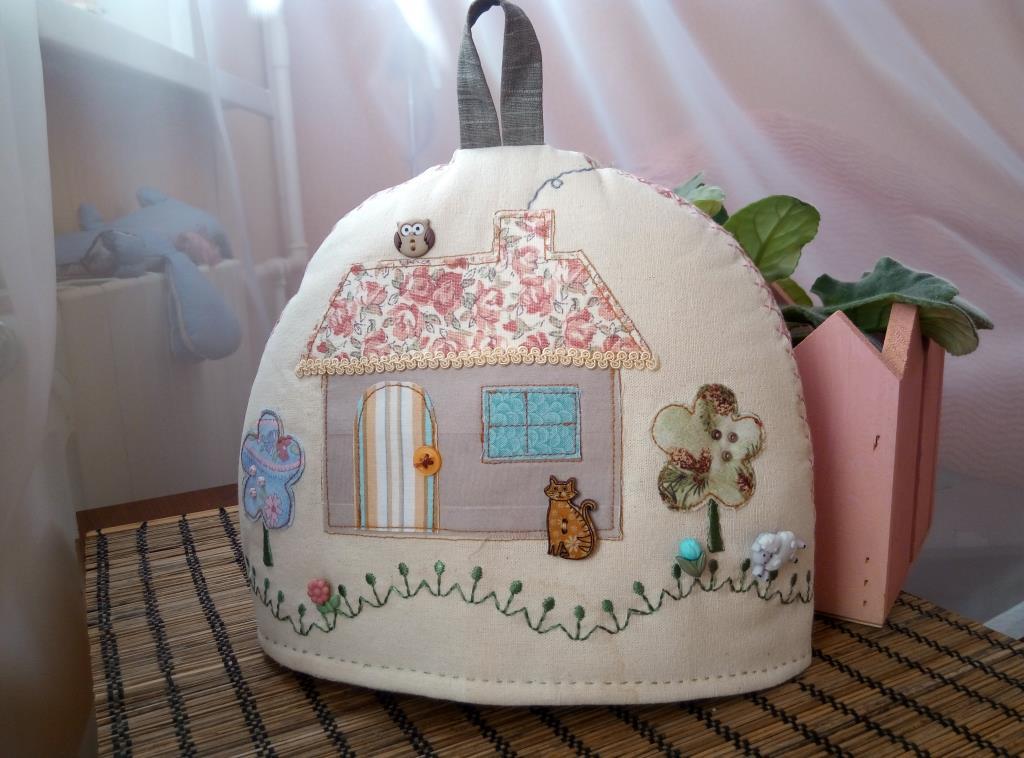 Sew&So Sweet cottage tea cosy kit. Рукоделие