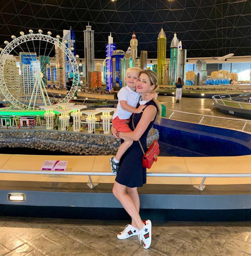 Анна Мизайловская с сыном