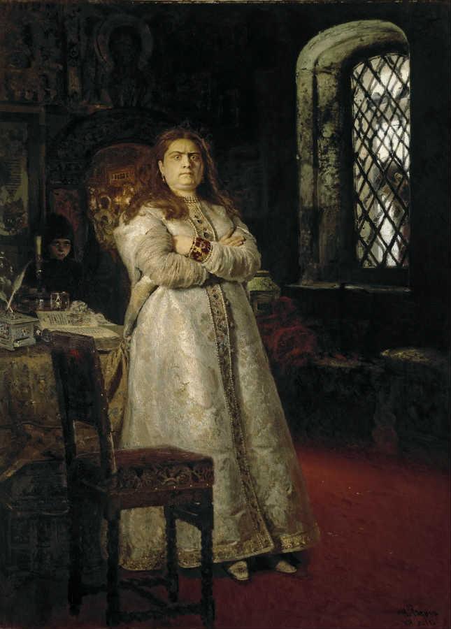 Царевна Софья в Новодевичьем Монастыре