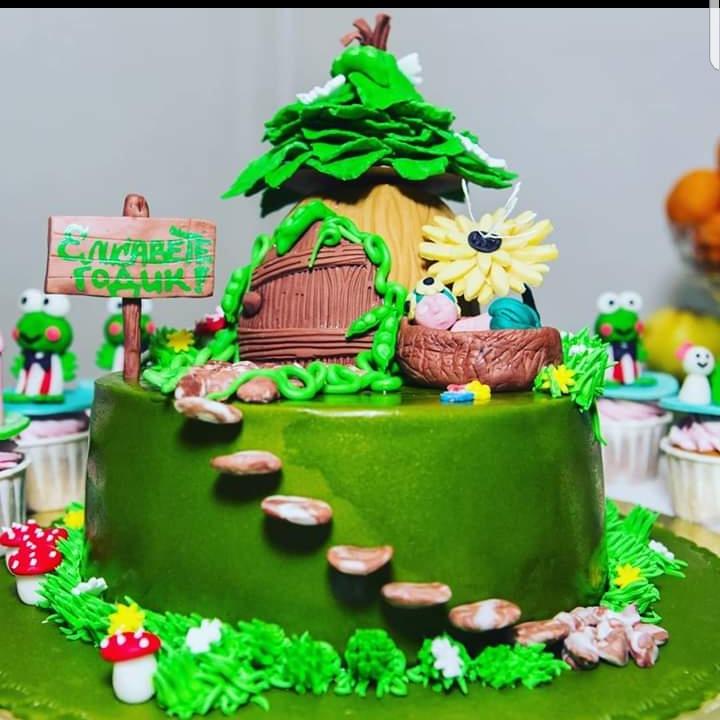 Елизавете годик!!!. Блиц: торт на заказ