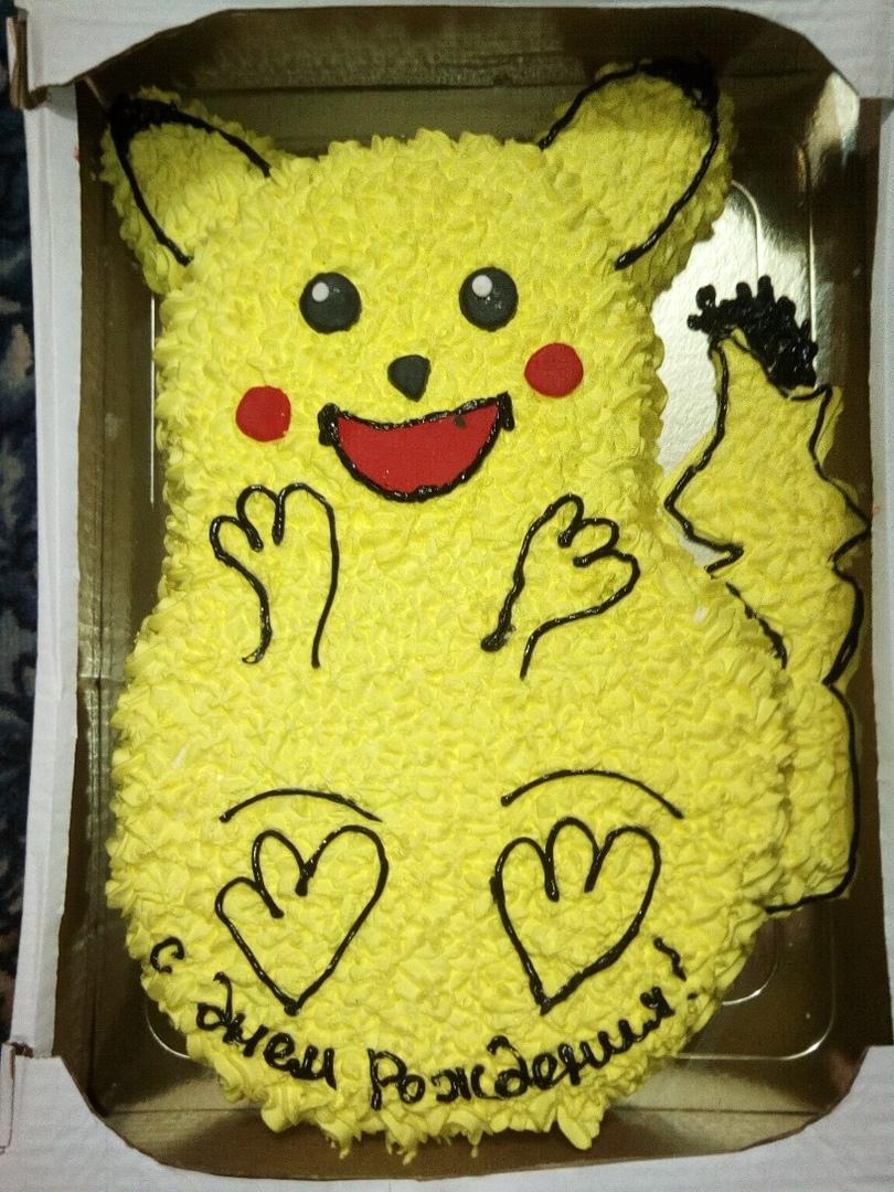 моя дочь очень любит Покемонов... Блиц: торт на заказ