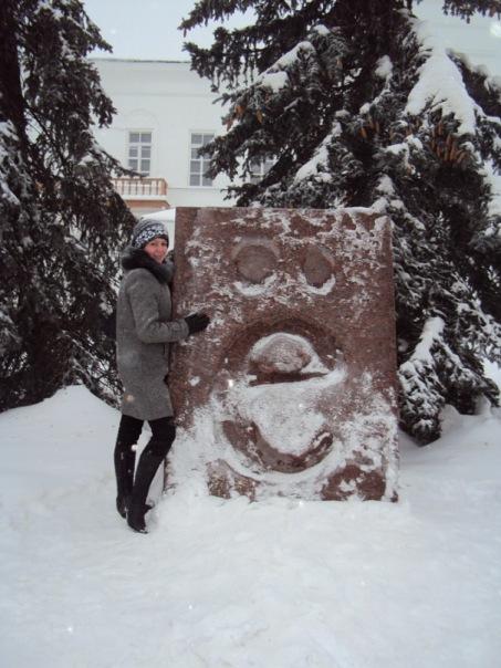 Камень в Ульяновске. Памятник букве 'ё'.. Блиц: камни