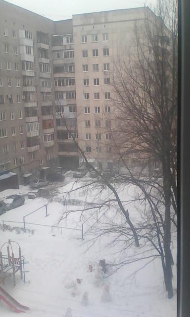 Апрель. Вид из окна.. Блиц: апрель