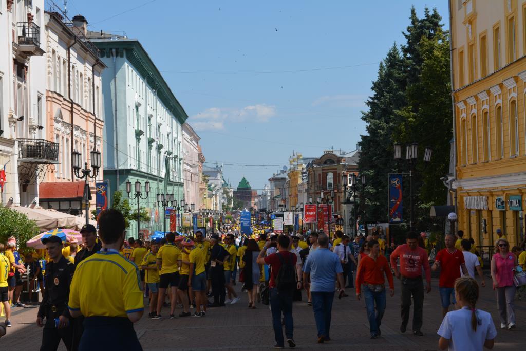 'Желтая река' на улице Нижнего Новгорода. Блиц: улицы