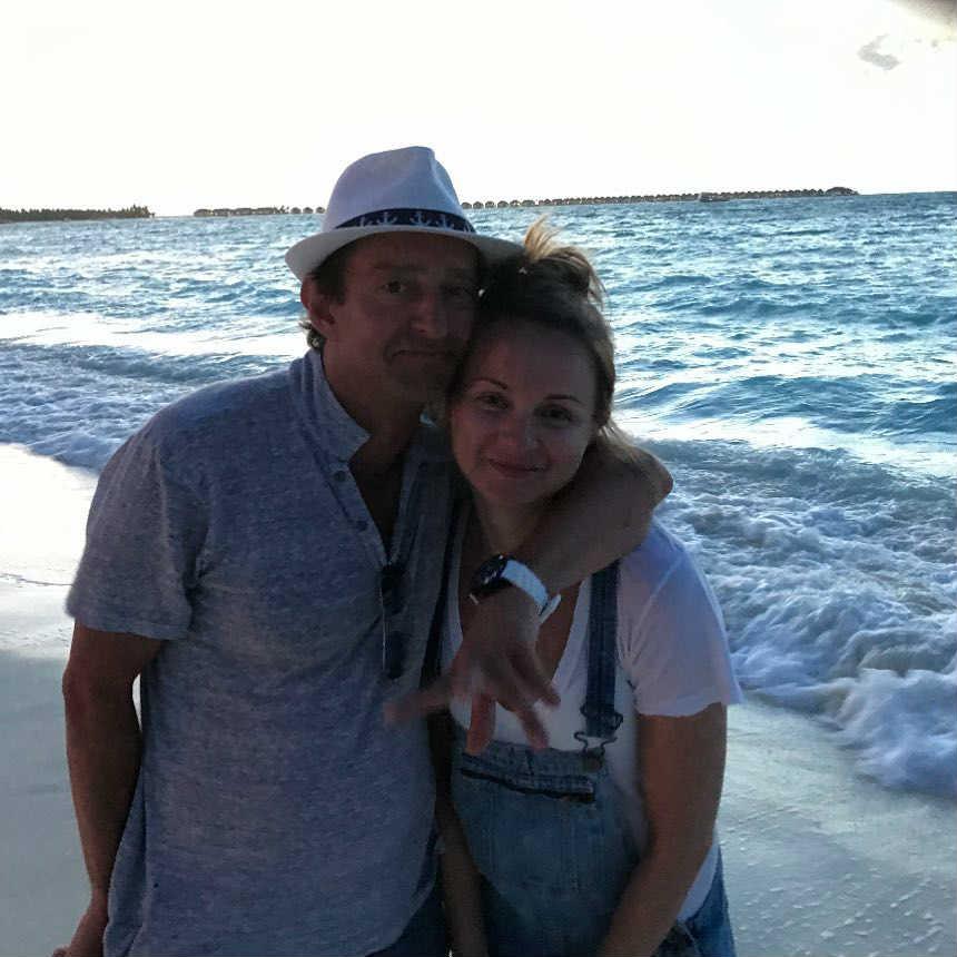 Константин Хабенской с женой