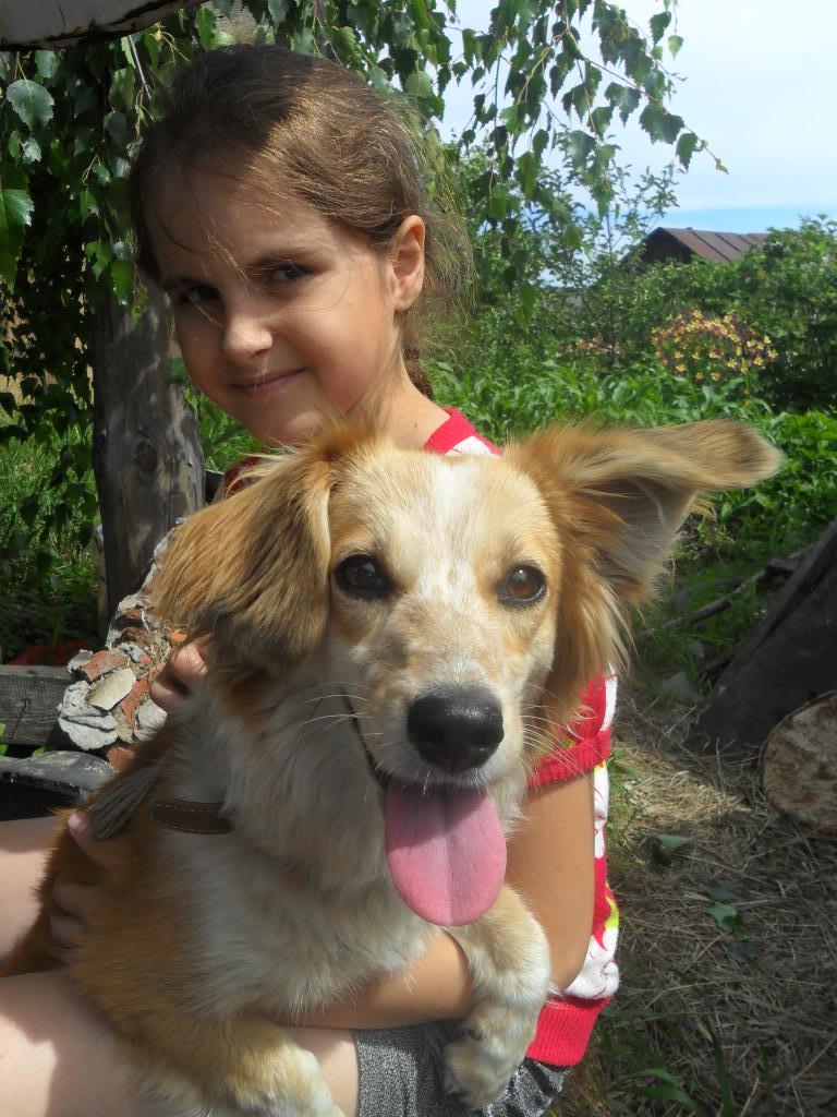 Я и моя Полинка. Моя собака
