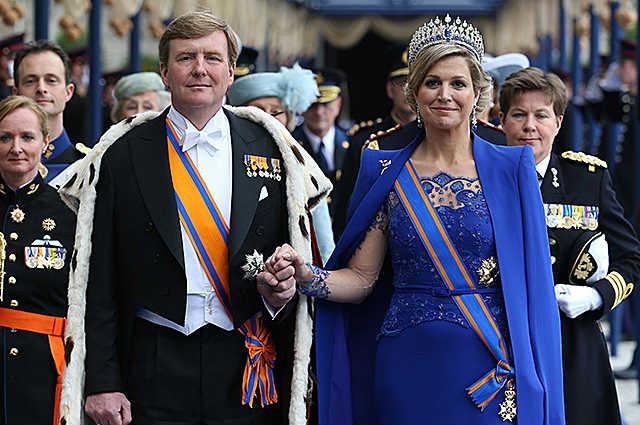 Король Голландии Виллем-Александр с женой Максимой