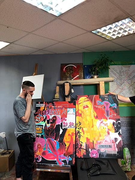 Выставка работ молодых художников