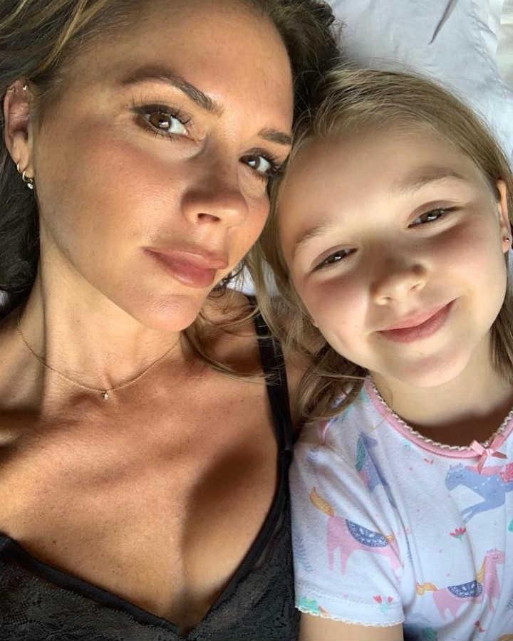 Виктория Бекхэм и дочь Харпер