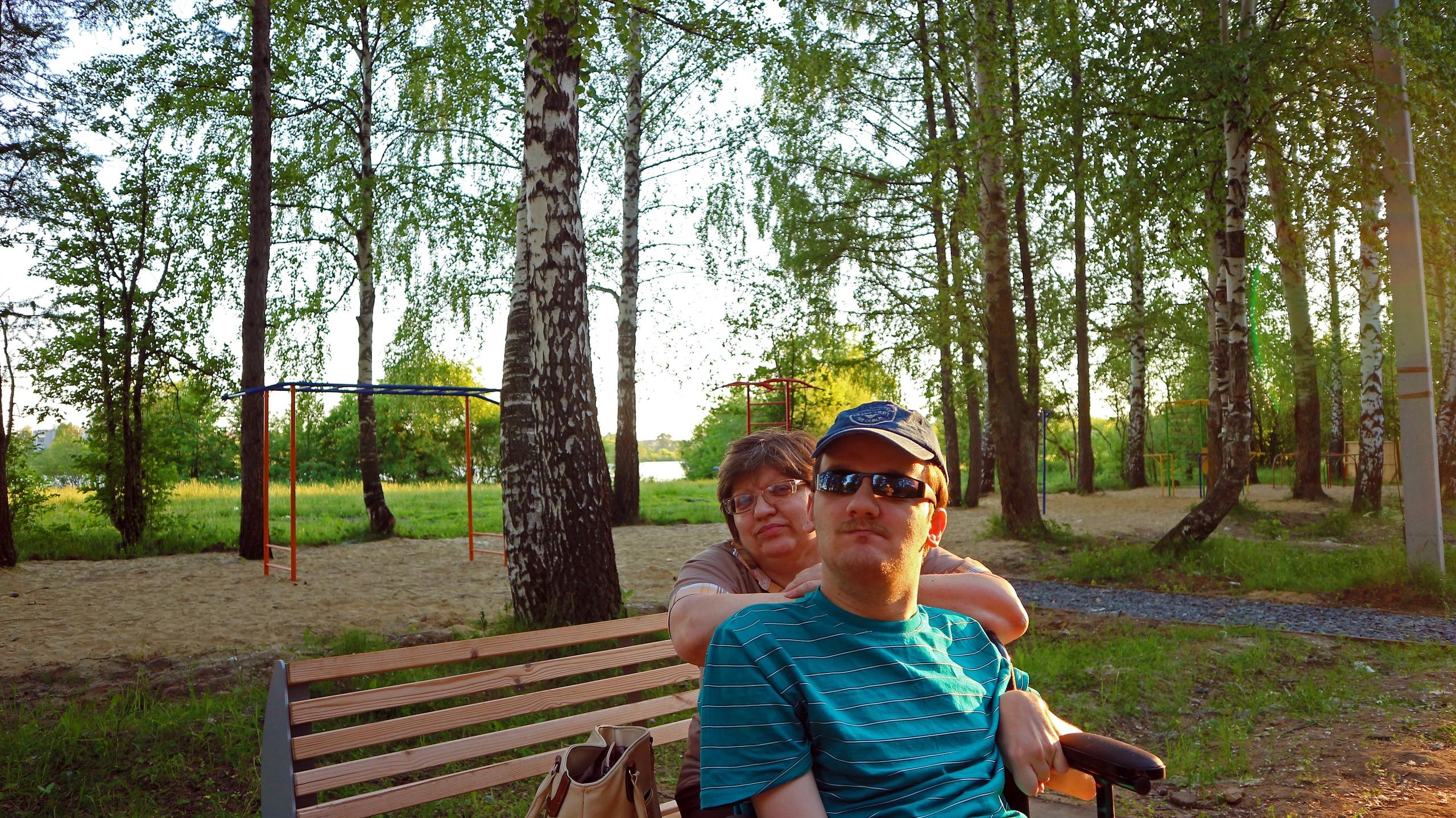 Я с мамой, в 2019 году, летом Йошкар-Оле . Яркое лето