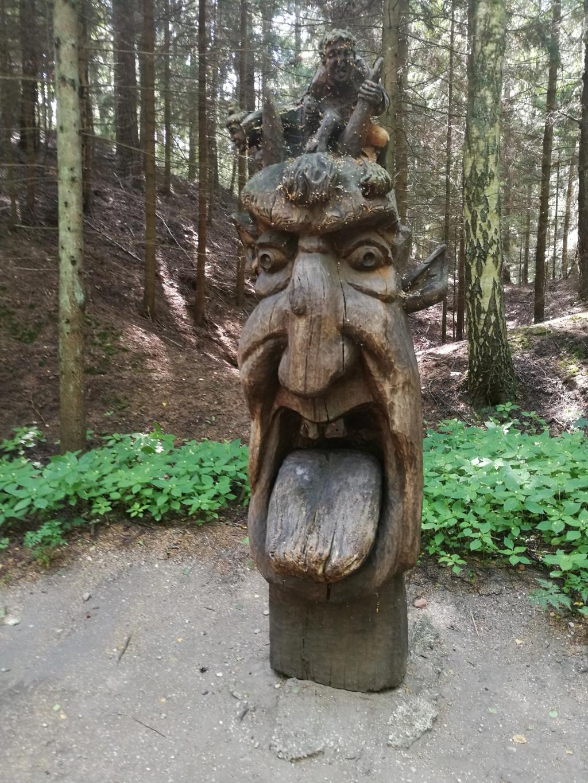 Гора ведьм, Куршская коса, Литва. Блиц: скульптура