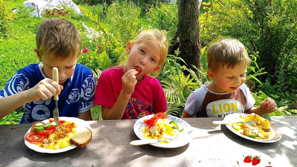 На природе и аппетит лучше. Яркое лето