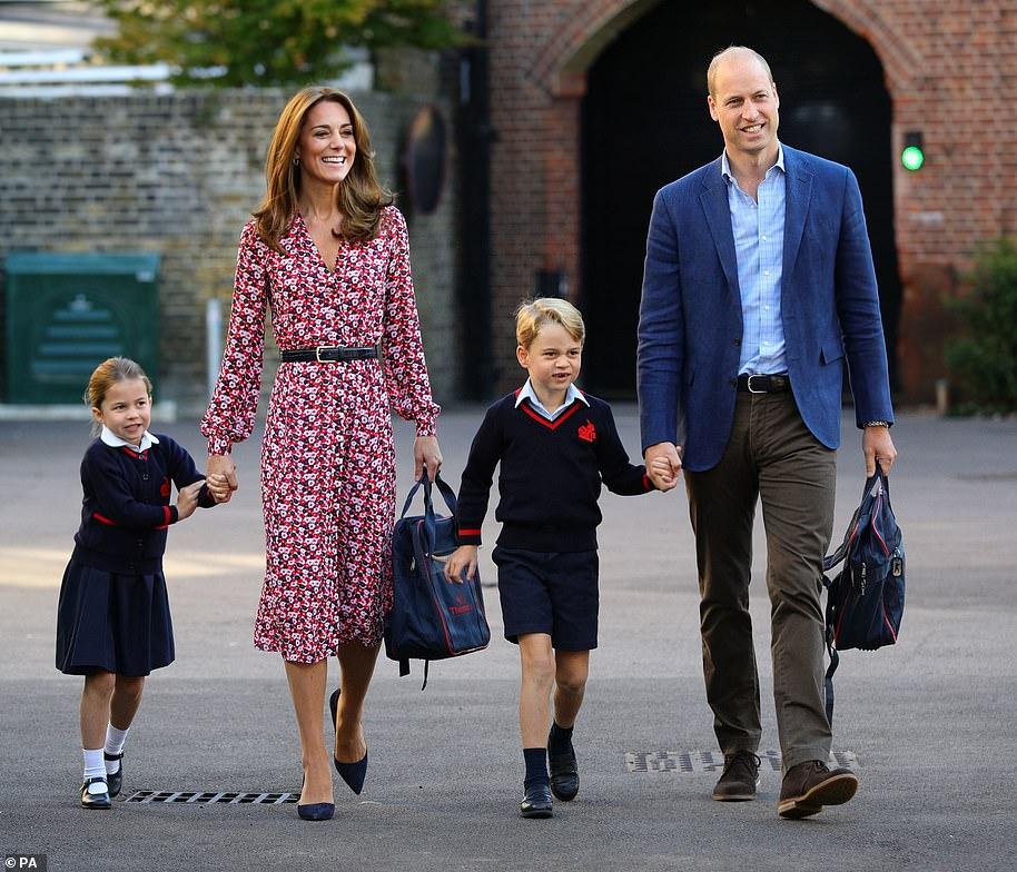 Кейт и принц Уильям дети школа