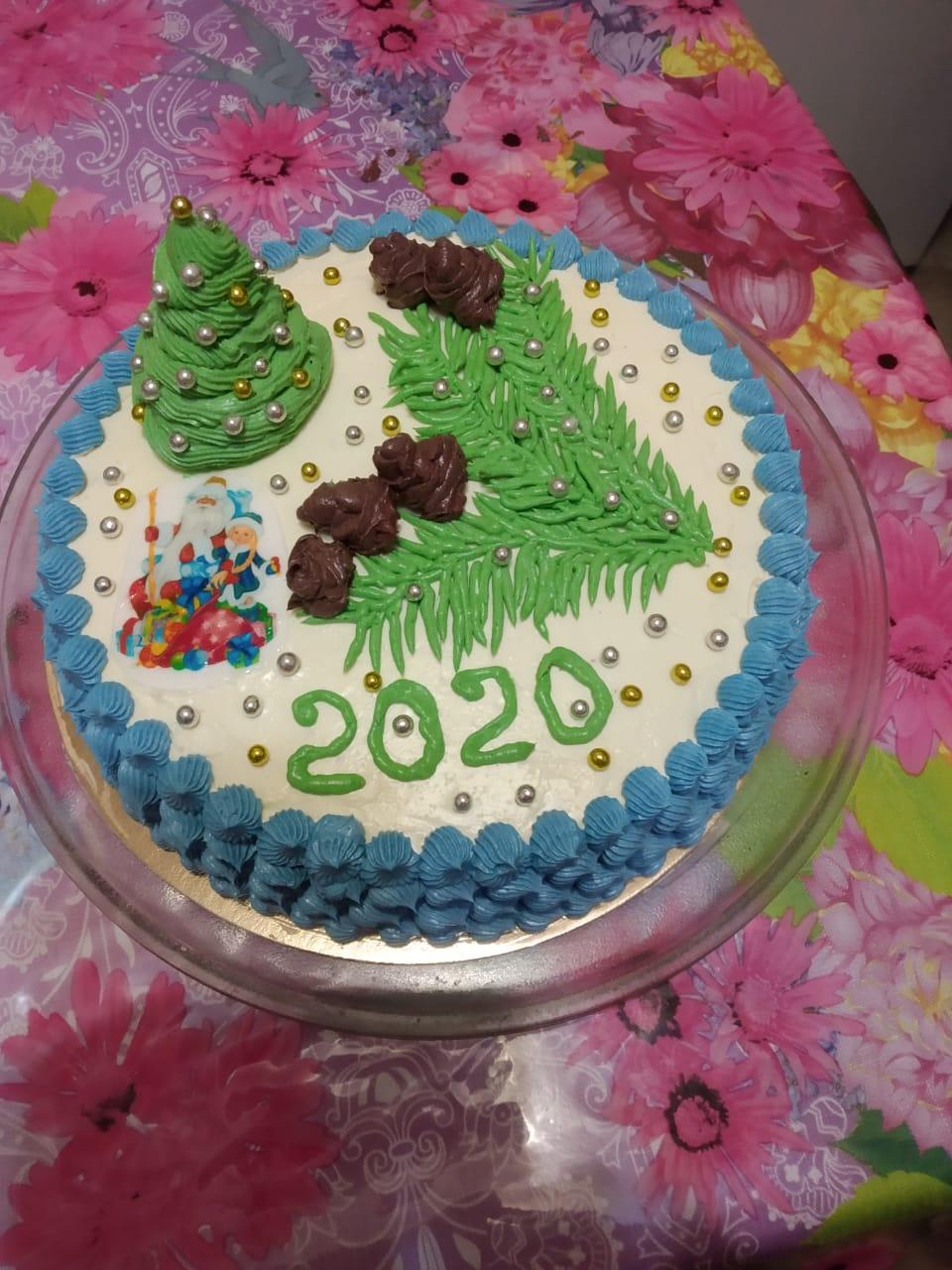 Новогодний чудесный торт. Блиц: очарование Нового года