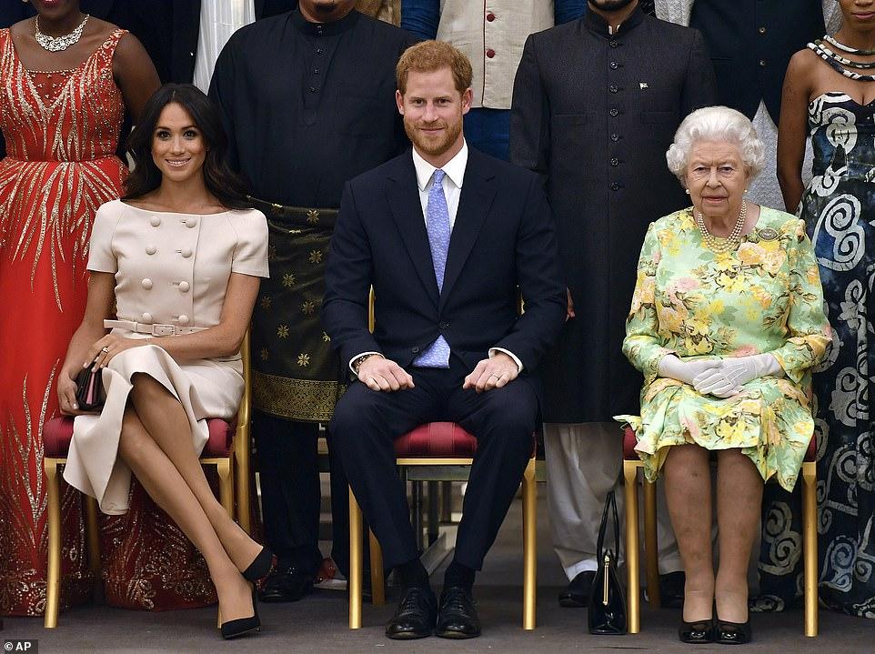 Принц Гарри Меган Маркл королева Елизавета