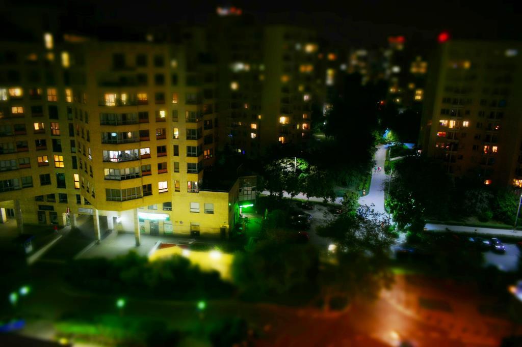 Ночной город. Блиц: вид сверху