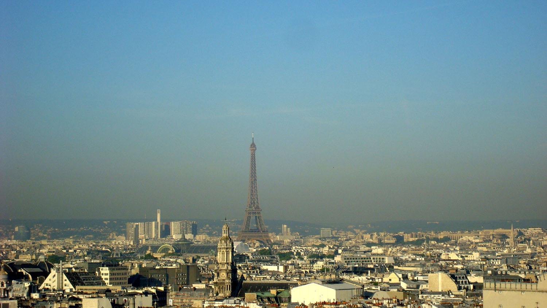 Париж с 9-го этажа. Блиц: вид сверху