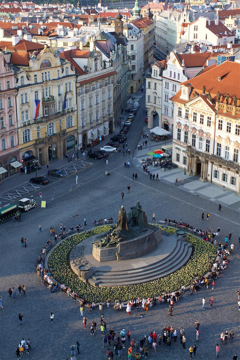 Прага с высоты птичьего полета. Блиц: вид сверху
