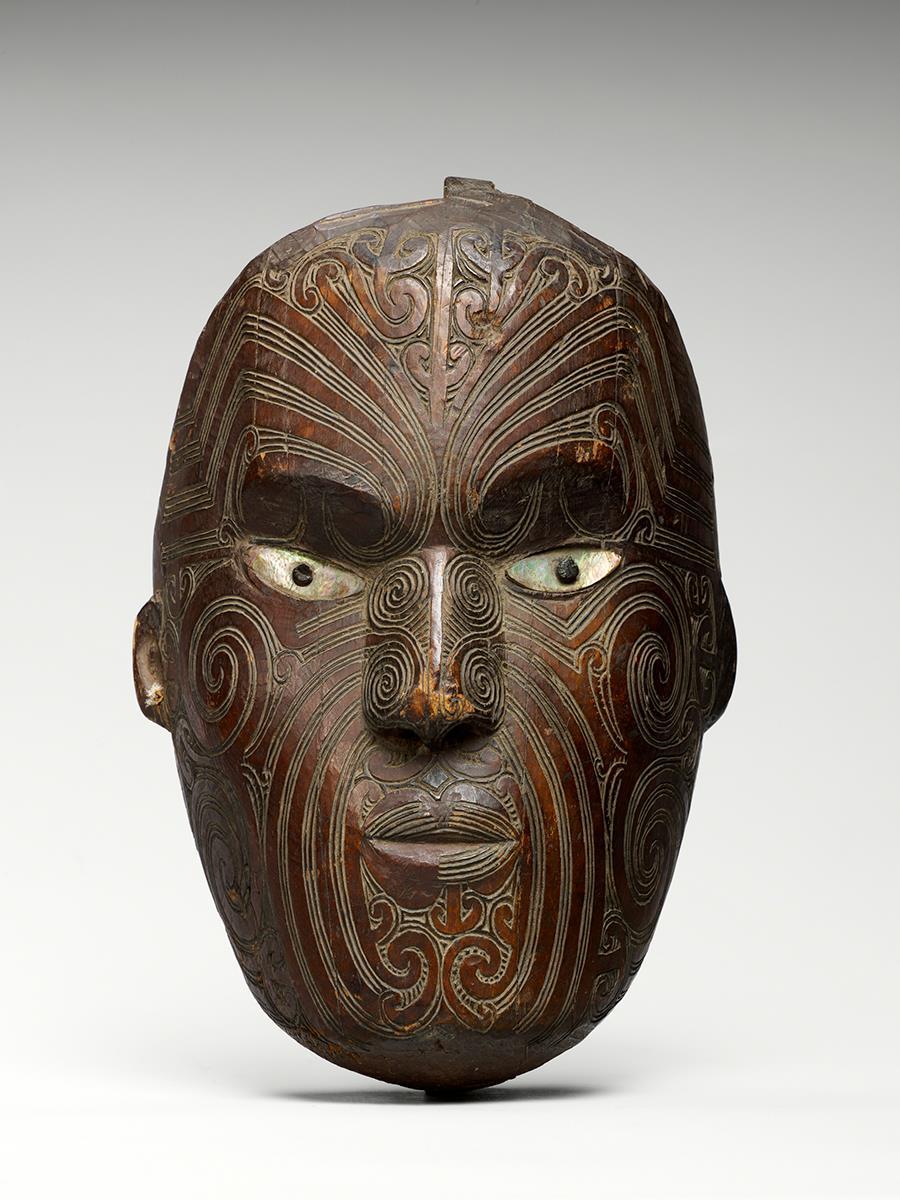 Маска коруру, или парата. XIX век. Новая Зеландия