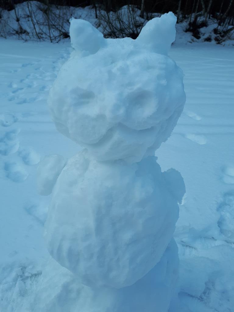 котик. Блиц: фигуры из снега