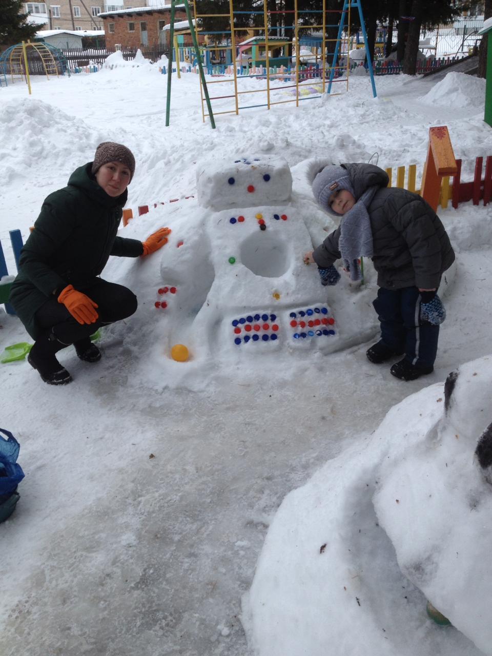Мой первый робот!. Блиц: фигуры из снега