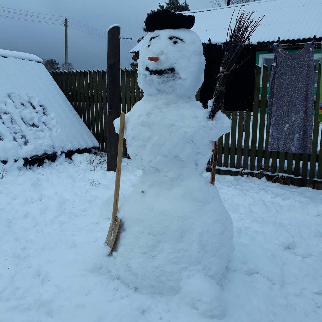Мой снежный друг. Блиц: фигуры из снега