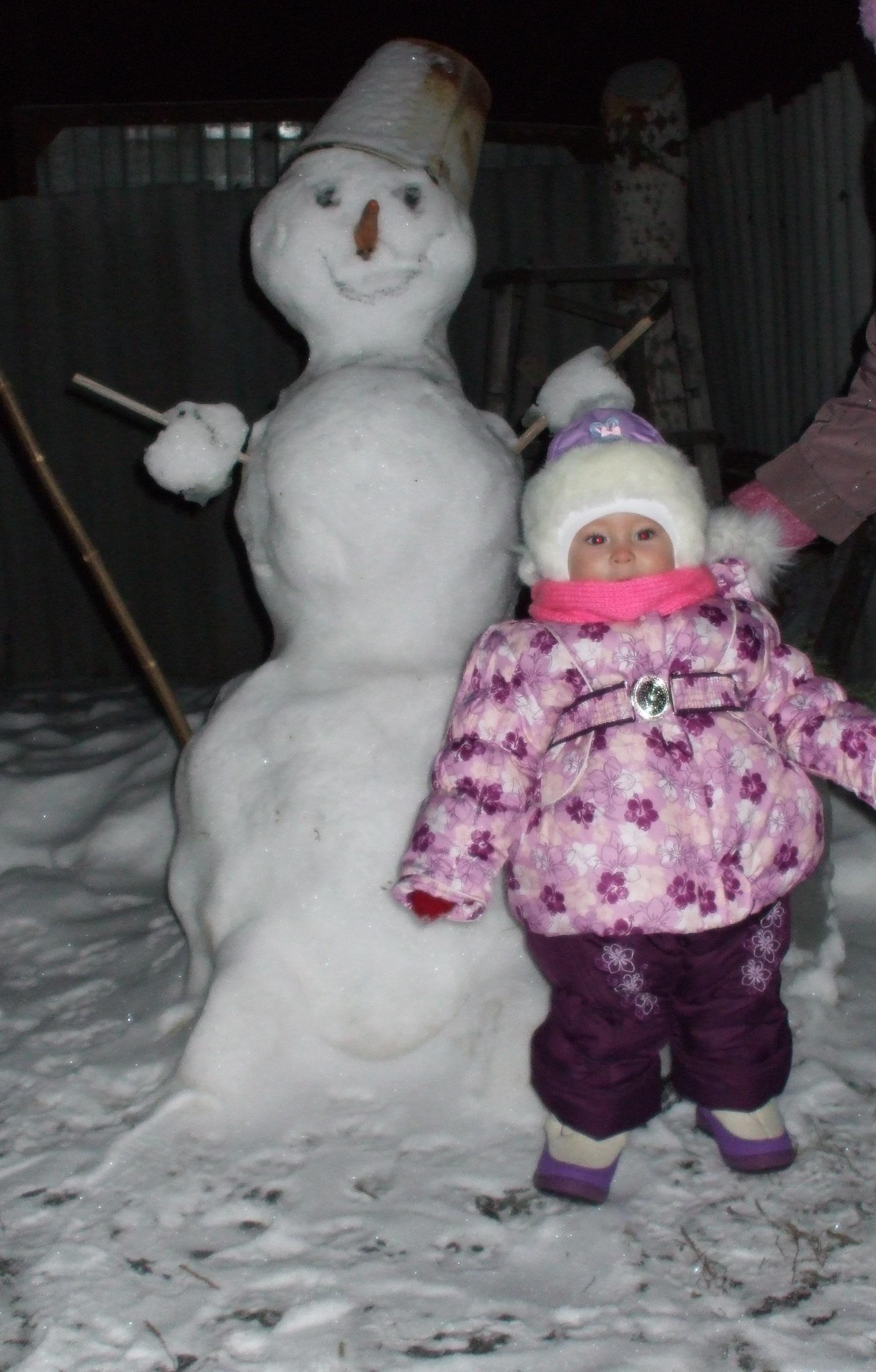 2 снеговика. Блиц: фигуры из снега