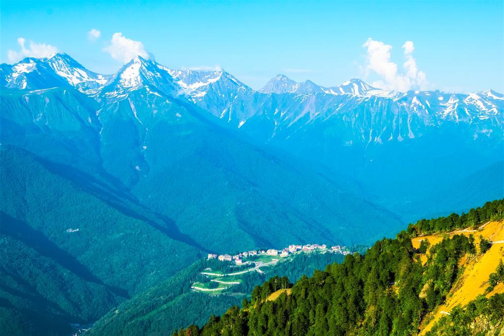 Высокогорье Кавказа. Блиц: вид сверху