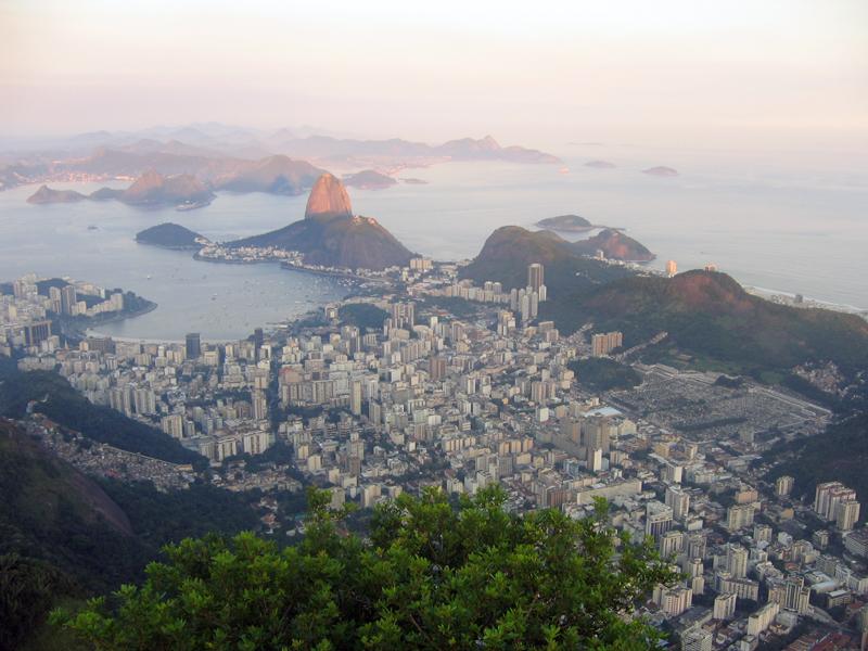 Закат в Рио. Блиц: вид сверху