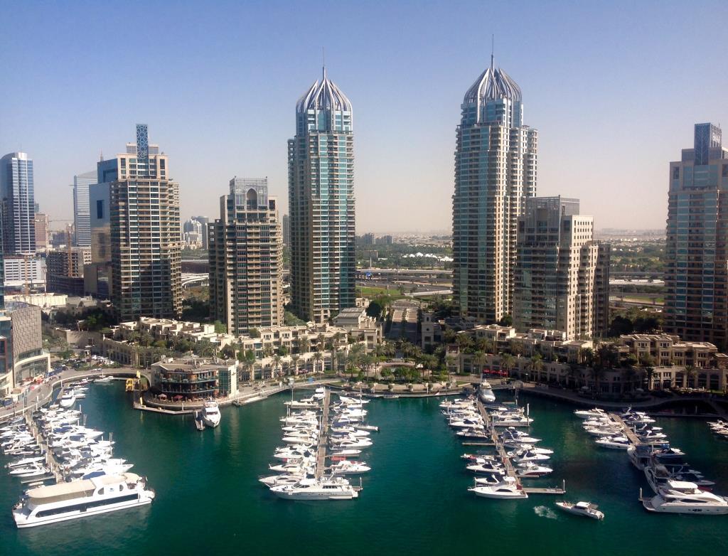 Дубай Марина. Блиц: вид сверху