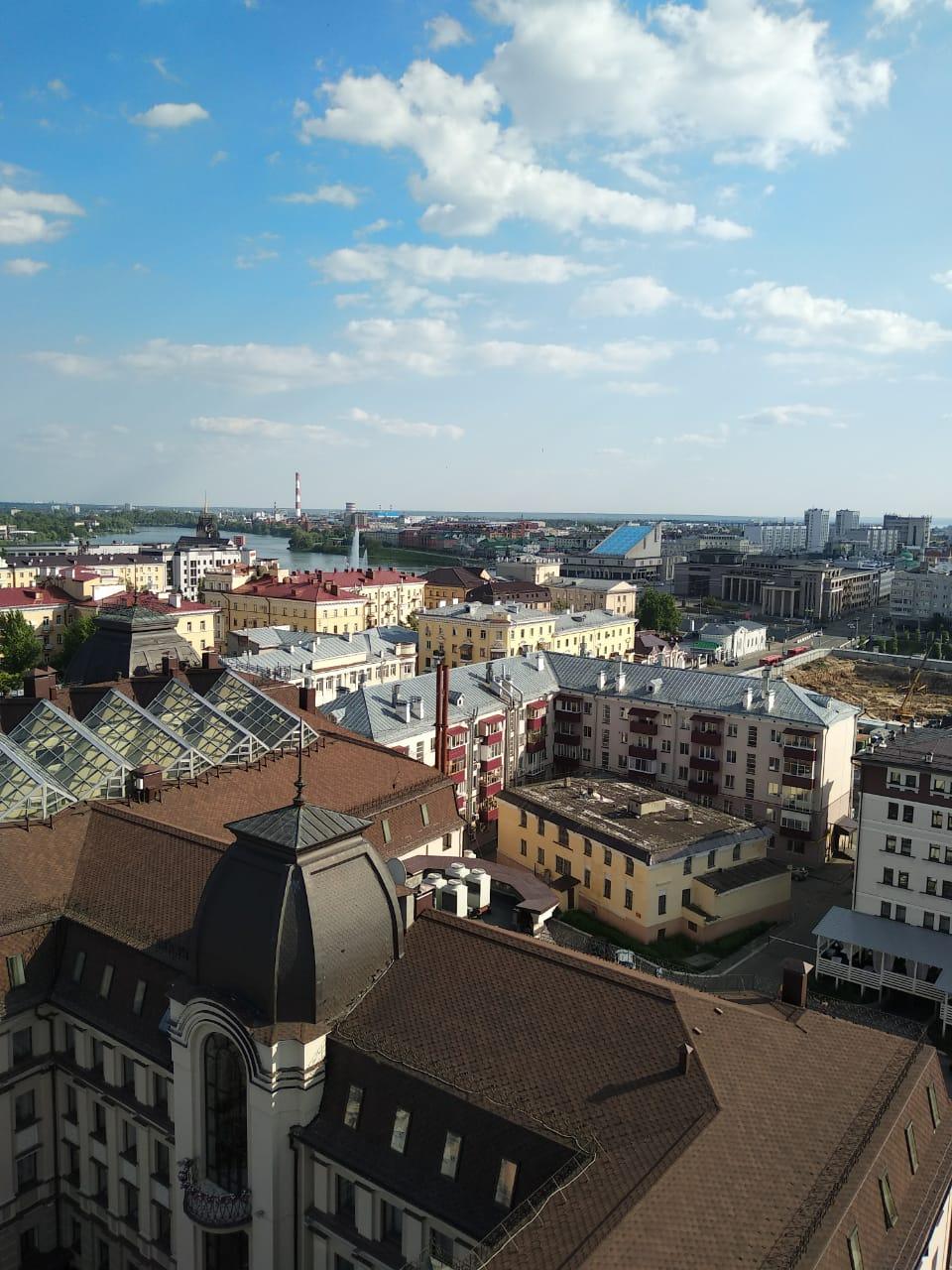 Казань с птичьего полета. Блиц: вид сверху