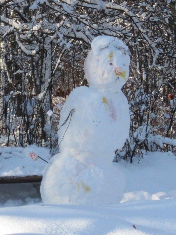 Снеговик. Блиц: фигуры из снега