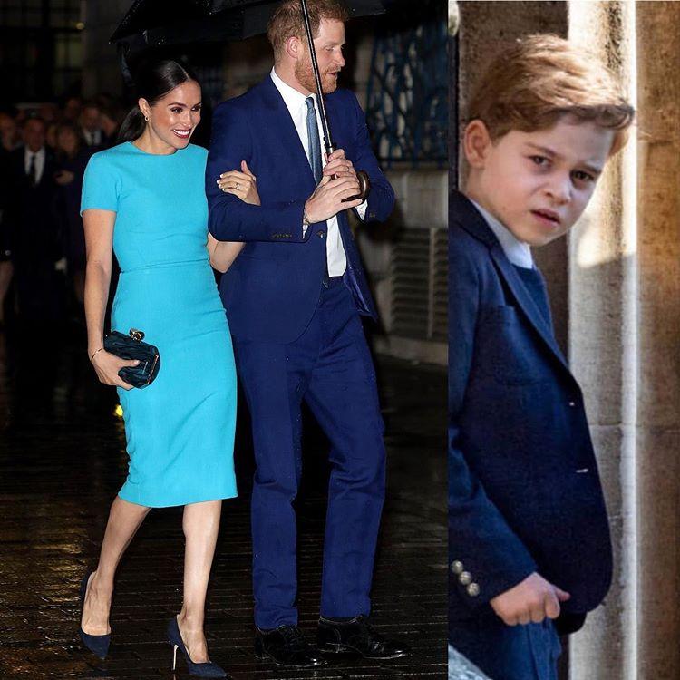Принц Гарри Меган Маркл 2020 принц Джордж