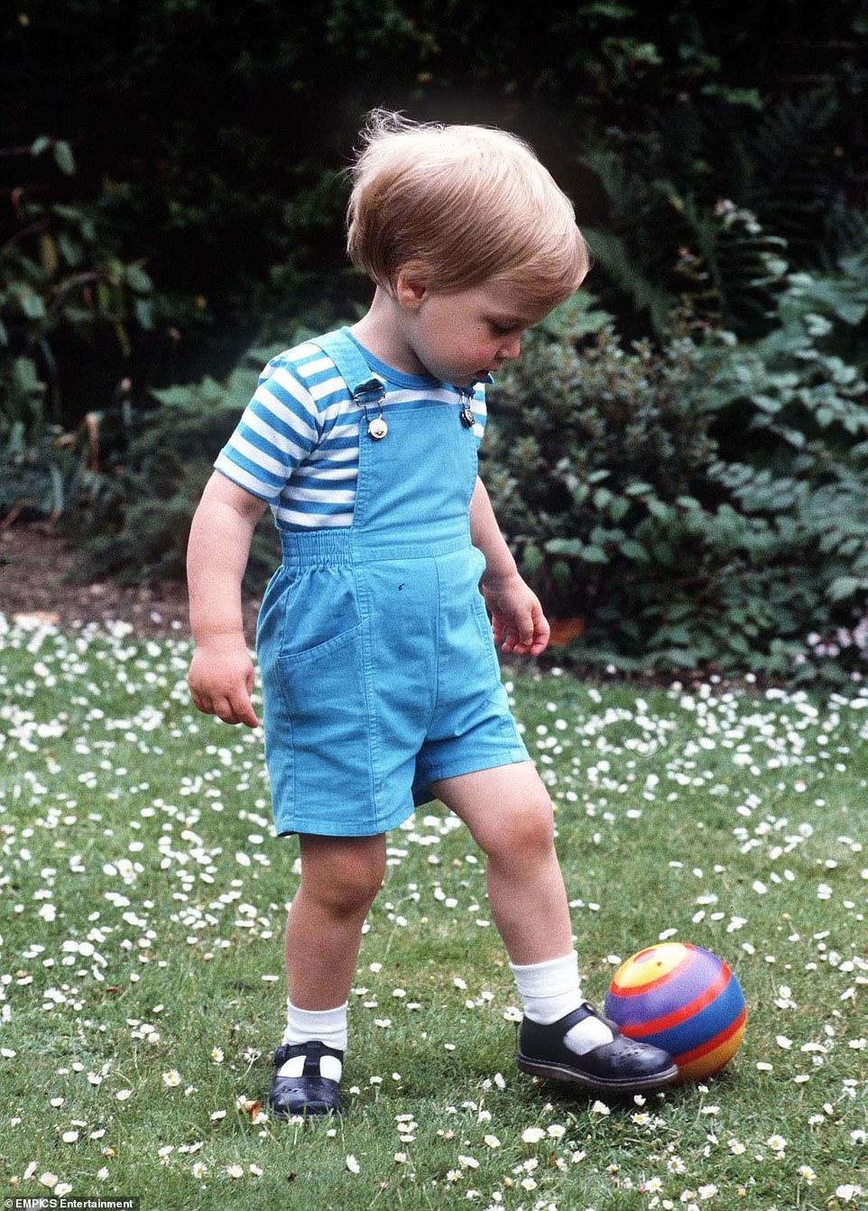 Принц Уильям детские фото