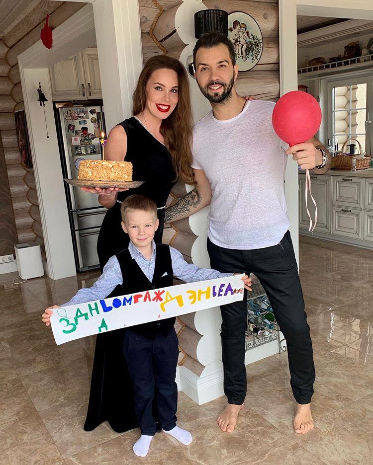 Денис Клявер жена Ирина сын Даниэль