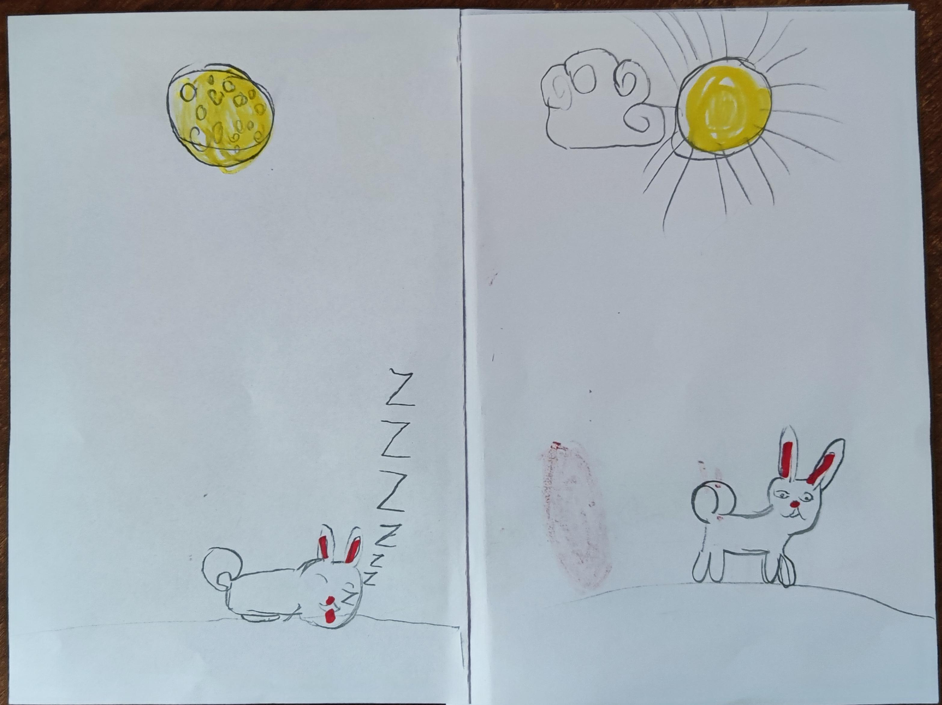 Лиля рисует комиксы