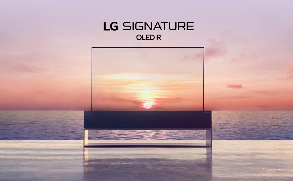 Сворачивающийся телевизор LG SIGNATURE OLED R: премиальные технологии изображения в новом форм-факт