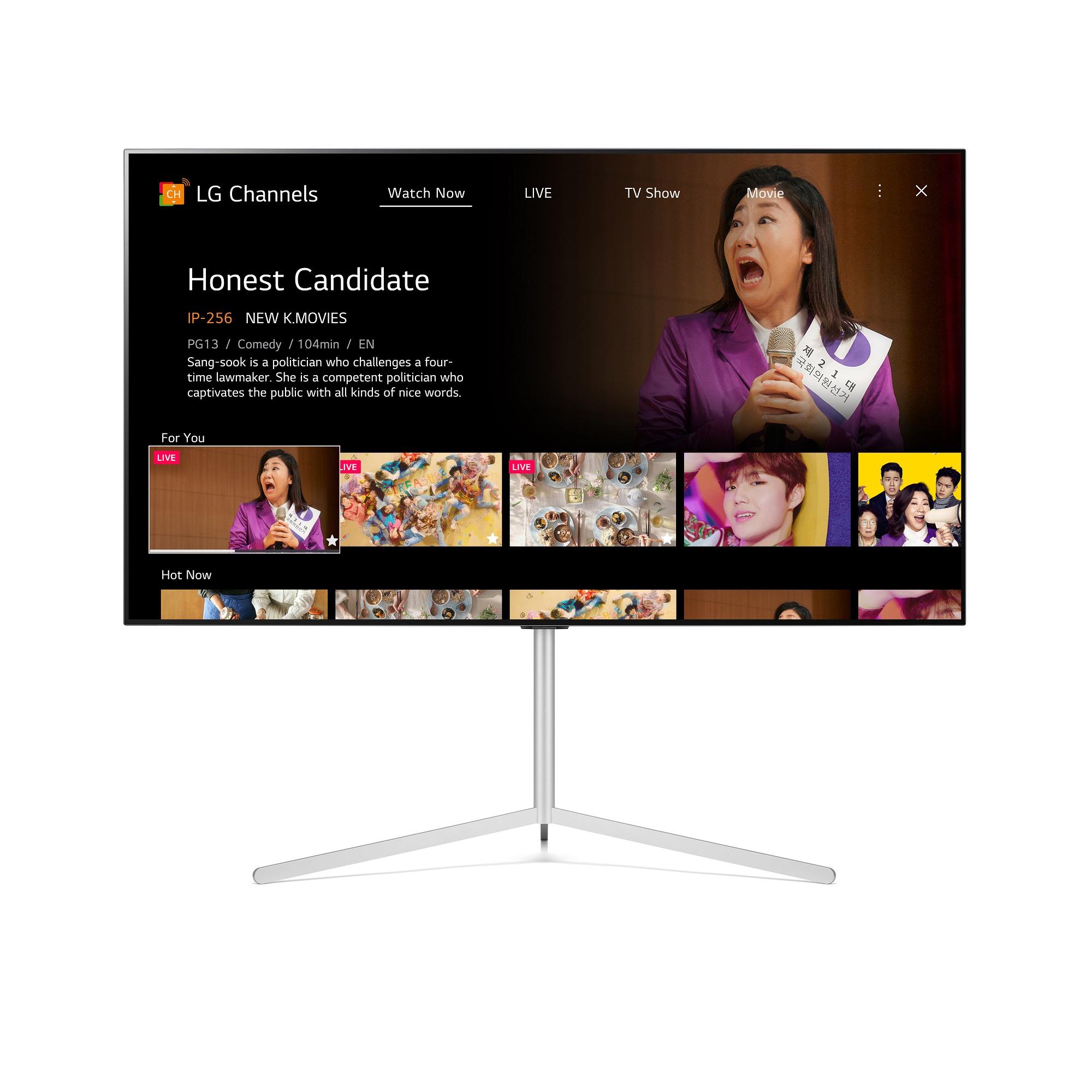 Компания LG модернизирует свой бесплатный стриминговый сервис LG Channels