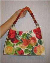 Моя летняя яблочная сумочка
