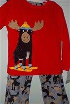 флисовая пижама 6л (114-122см с этикетки) 700руб