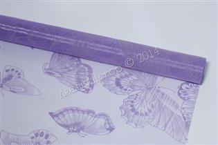 Органза с рисунком бабочки