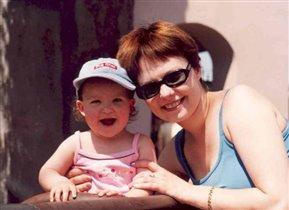 Даша с мамой!