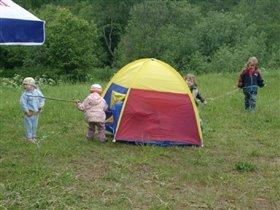 Выгон из палатки
